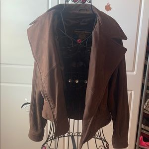 Women's brown real suede Wilson's jacket
